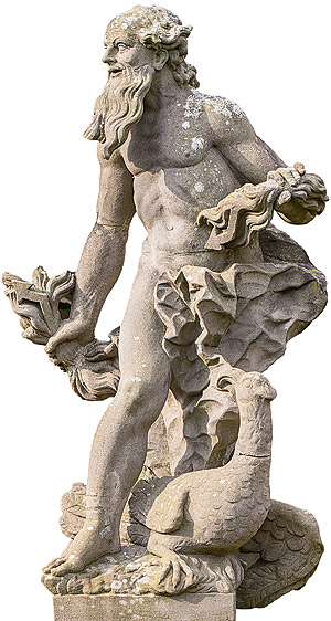 Picture: Figure of Jupiter, sandstone replica